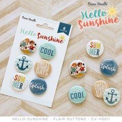 Cocoa Vanilla Hello Sunshine Flair Buttons