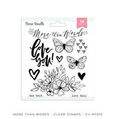 PRE ORDER Cocoa Vanilla Studio More Than Words Clear Stamps