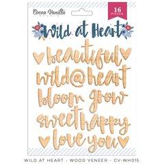Cocoa Vanilla Studio Wild at Heart Wood Veneer Words