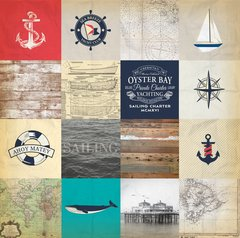 Carta Bella Yacht Club 12 x 12 Double Sided Cardstock Sailing Cards