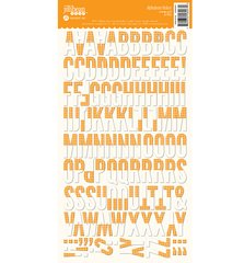 JILLIBEAN SOUP ALPHABEAN STICKERS Orange Grid