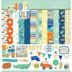 PhotoPlay Boys Rule 12 x 12 Collection Kit