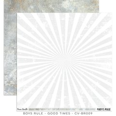 PRE ORDER Cocoa Vanilla Studio Boys Rule Good Times 12 x 12 Cardstock