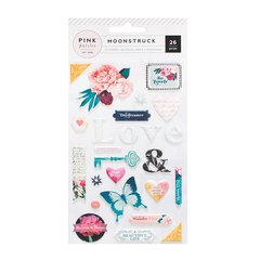 Pink Paislee - Moonstruck Collection - Puffy Stickers
