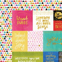 Bella Blvd Make Your Mark 12 x 12 Double Sided Paper with Foil Accents - Daily Details