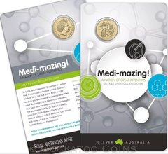 2014 Australia Medi-mazing Clever Australia $1 Coin