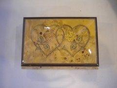 Wooden Italian Music Box Hearts