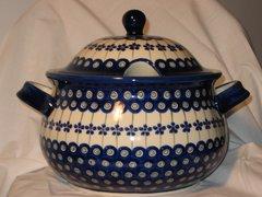 Boleslawiec Soup Tureen Peackock