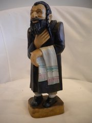 Hand Carved Wooden Rabi