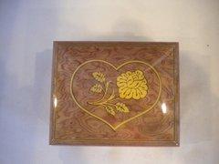 Wooden Italian Music Box Pink Heart