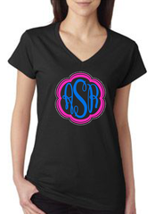 Monogram with Rhinestone outline