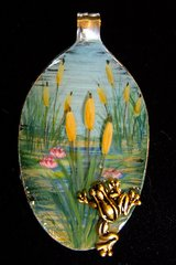 Cattails and Frog Spoon Pendant Kit
