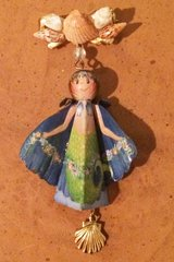 Tiny Mermaid pattern,1 kit, and pin accessory attachment