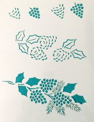 Pinecone Stencil Click to se more options