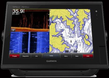 Garmin 7612xsv 12 FishFinder GPS Chartplotter Radar W Built In 1Kw