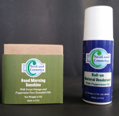 Peppermint Roll-on Deodorant & Natural Soap with Dead Sea salt