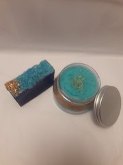 Mosaic Blue Sea Salt Soap and Sugar Scrub