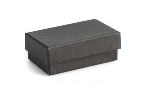 Jewelry black boxes with lids cotton filled small for Small cardboard jewelry boxes with lids