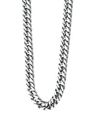 Fredbennett - Gents Stainless Steel Curb Link Necklace. N3224