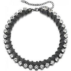 Fiorelli Costume Jewellery Preciosa Crystal & Black Rhodium Collar Necklac