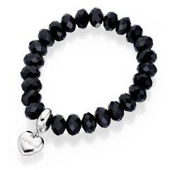 Fiorelli Fashion Bead Charm Elasticated Bracelet Black Beads B3745