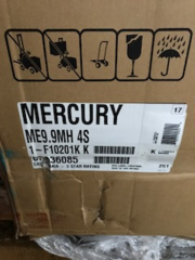 """9.9 HP 4 stroke outboard motor15"""" manuel start new 2018 Mercury"""