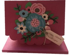 "20 Handcrafted Happy Birthday Greeting Card For Her ""Floral Bouquet"""