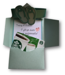 20 Handcrafted Gift Card Holder To say Thank You, I Flip Over Your Referrals!