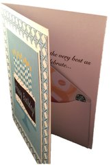 20 Handcrafted birthday cards with an inside pocket for you to insert your gift card to your client's favorite venue