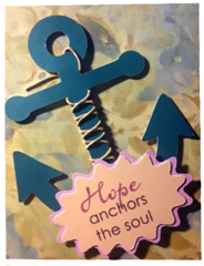 """20 Handcrafted Encouragement Cards """"Hope Anchors the soul"""""""
