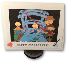 "20 Handcrafted Fathers Day Cards ""Family Fishing"""