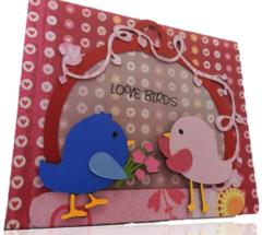 20 Handcrafted Love Bird Cards