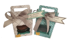 "20 Handcrafted Pop By Gifts; Cupcake boxes ""Have your Peeps Call my Peeps"""