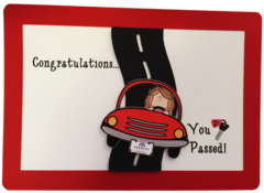 """20 Farmers Insurance Agents; """"You Passed Your Drivers License"""" Greeting Cards"""