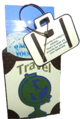20 Pop by Gift Tags; Personalized Luggage Tag