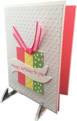 "20 Handcrafted Birthday Cards ""Present"""