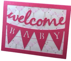 20 Handcrafted Welcome Baby Greeting Card