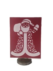 """20 Handcrafted Christmas Greeting Cards, Laser Cut Of """"Santa"""""""