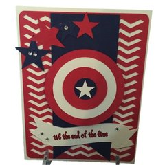 "20 Handcrafted Birthday Greeting Cards ""Captain America"""