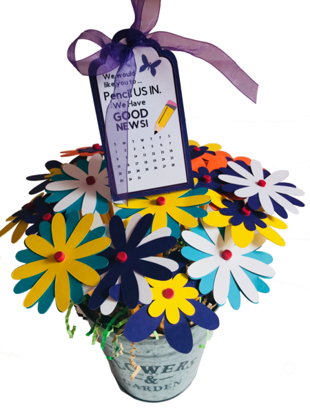 10 Pencils/ Flower Bouquet! -Pop by Gift.. We Have Good News!