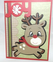 20 Handcrafted Holiday Cards Rudolph