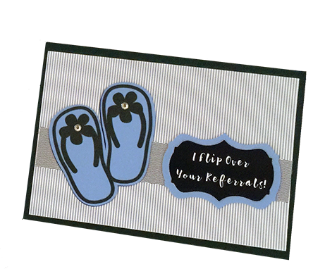 """20 Handcrafted Gift Card Holder To say Thank You I"""" Flip Over Your Referrals!"""