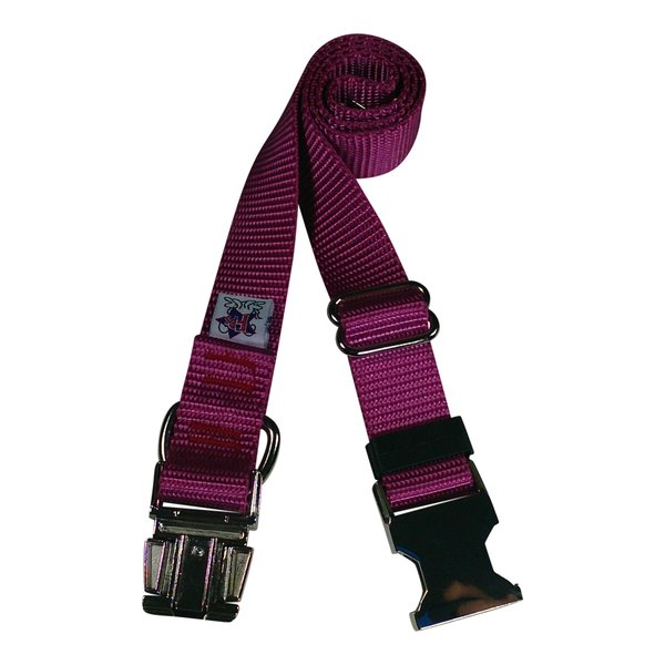 Beast-Master Nylon Dog Collar Metal Hardware-Rose