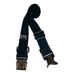 Beast-Master Nylon Dog Collar Metal Hardware-Navy Blue