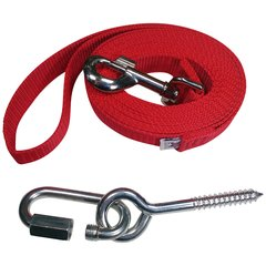"Beast-Master 1"" Polypropylene Dog Leash w/Mounting Bolt/Lag Screw-Firehouse Red"