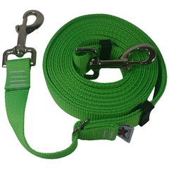 "Beast-Master Adjustable 1"" Nylon Dog Tether (Medium Dogs) Electric' Green"