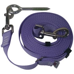 "Beast-Master Adjustable 1"" Nylon Dog Tether w/Lag Screw (Medium Dogs) Lavender"