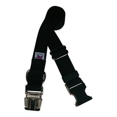 Beast-Master Nylon Dog Collar Metal Hardware-Black