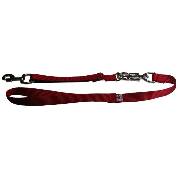 Tactical Quick Release Heavy Duty Panic Snap Adjustable Dog Leash Firehouse Red