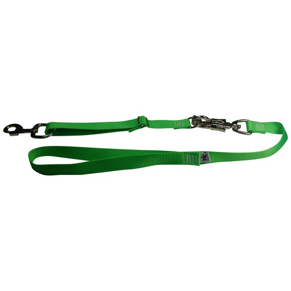 Tactical Quick Release Heavy Duty Panic Snap Adjustable Dog Leash Electric' Green